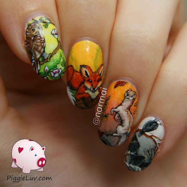 piggieluv four seasons nail art