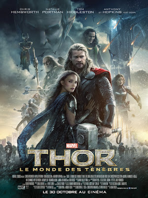 Thor, Thor 2, The Dark World, Monde des ténèbres, Chris Hemsworth, Thor, Natalie Portman, Jane Foster, Tom Hiddleston, Loki, Anthony Hopkins, Odin, Christopher Eccleston, Malekith, Jaimie Alexander, Sif, Zachary Levi, Fandral, Ray Stevenson, Volstagg, Idris Elba, Heimdall, Rene Russo, Frigga, Kat Dennings, Darcy Lewis, Stellan Skarsgård, Erik Selvig, Marvel, Phase 2, Guardians of the galaxy, James Gunn, Benicio Del Toro, The Collector, Avengers, Avengers 2, Age if Ultron, Thor 3, Iron Man 3, Joss Whedon, test, critique, avis, trailer, geekmehard, geek me hard