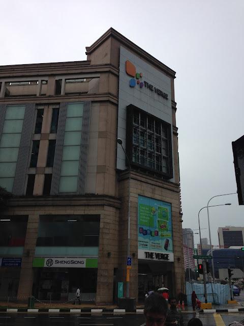 towards traffic singal view of The Verge office at tekka market