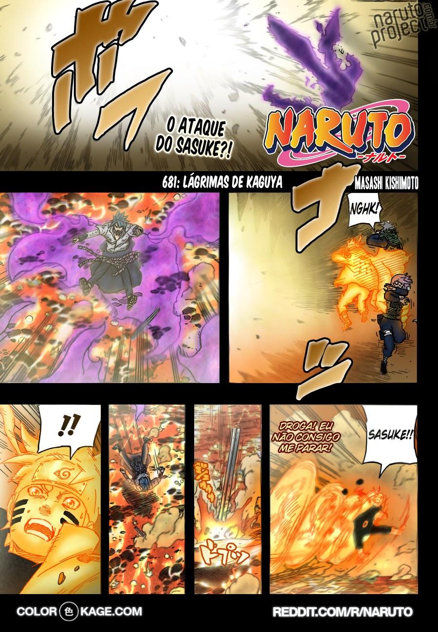 Naruto 681 Mangá Colorido em português