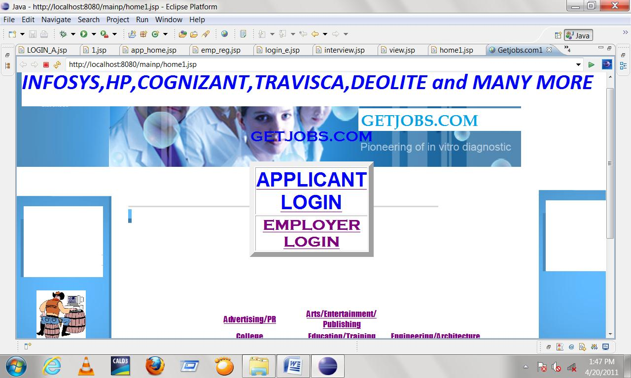 online job portal java project projectsgeek online job portal java project