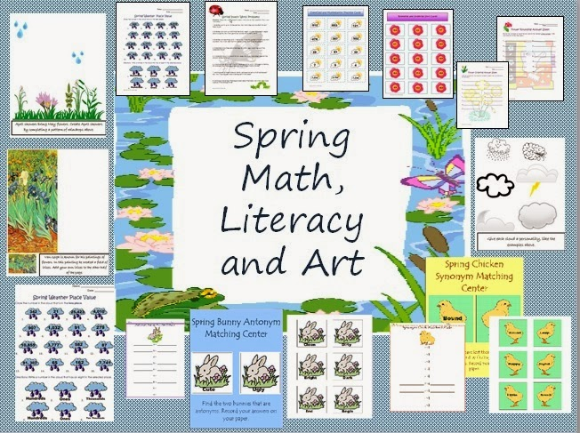 http://www.teacherspayteachers.com/Product/Spring-Art-Literacy-and-Math-Packet-Printables-for-Centers-and-More-224962
