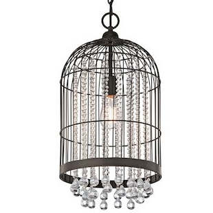 Kichler 1 Light Cage Mini Pendant with Crystals