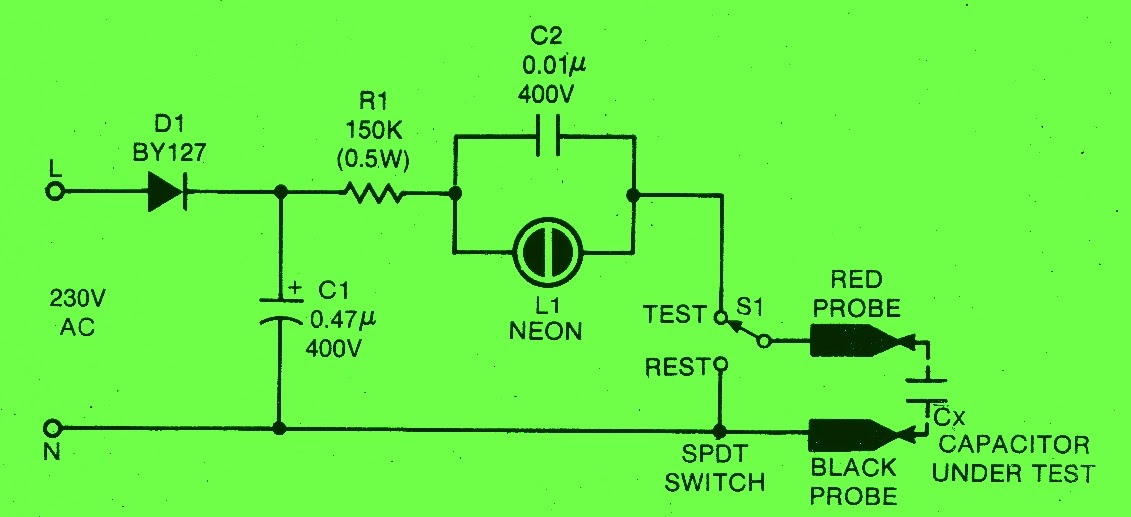 Schematic Diagram  How To Test A Leaky Capacitor
