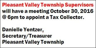 10-30 Pleasant Valley Twp. Meeting