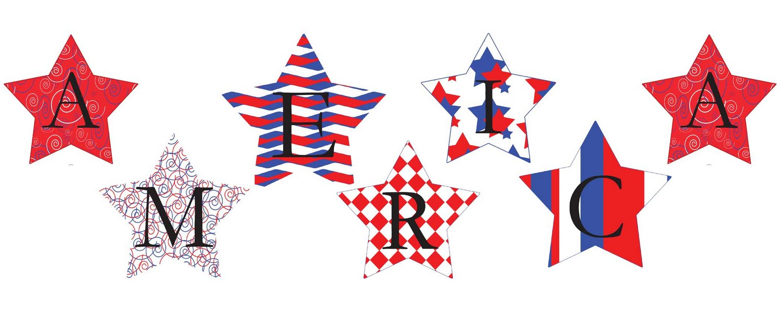 little piles everywhere fourth of july star banner and. Black Bedroom Furniture Sets. Home Design Ideas