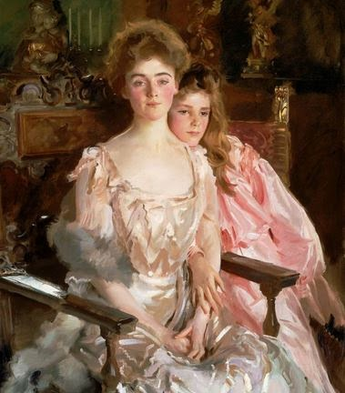 Painting of a mother and daughter