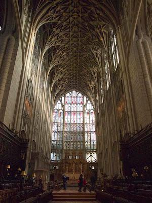 Nave gótica de la Catedral de Gloucester