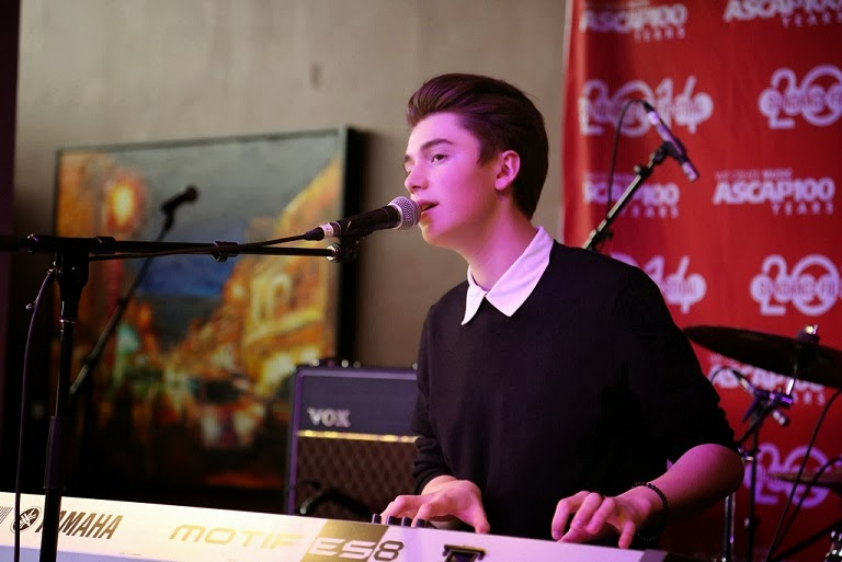 Greyson Chance performing at the 2014 Sundance Festival New Video