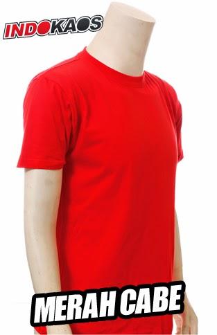 Kaos Polos Merah