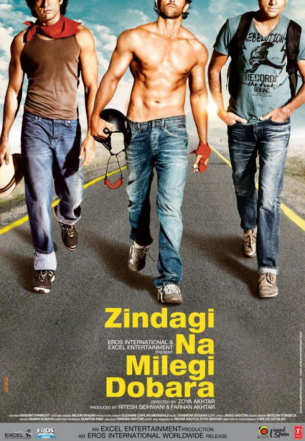 A poster from the movie Zindagi Na Milegi Dobara