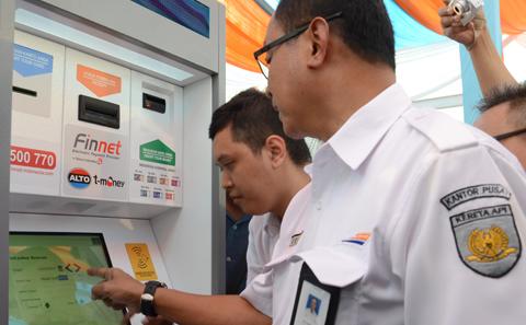 Elektronic Kiosk E-Kiosk Tiket Kereta Api