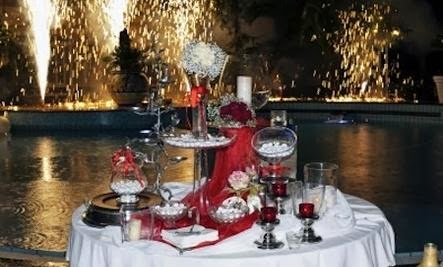 Celebrations Should Not Be About Money - romantic dinner - champagne