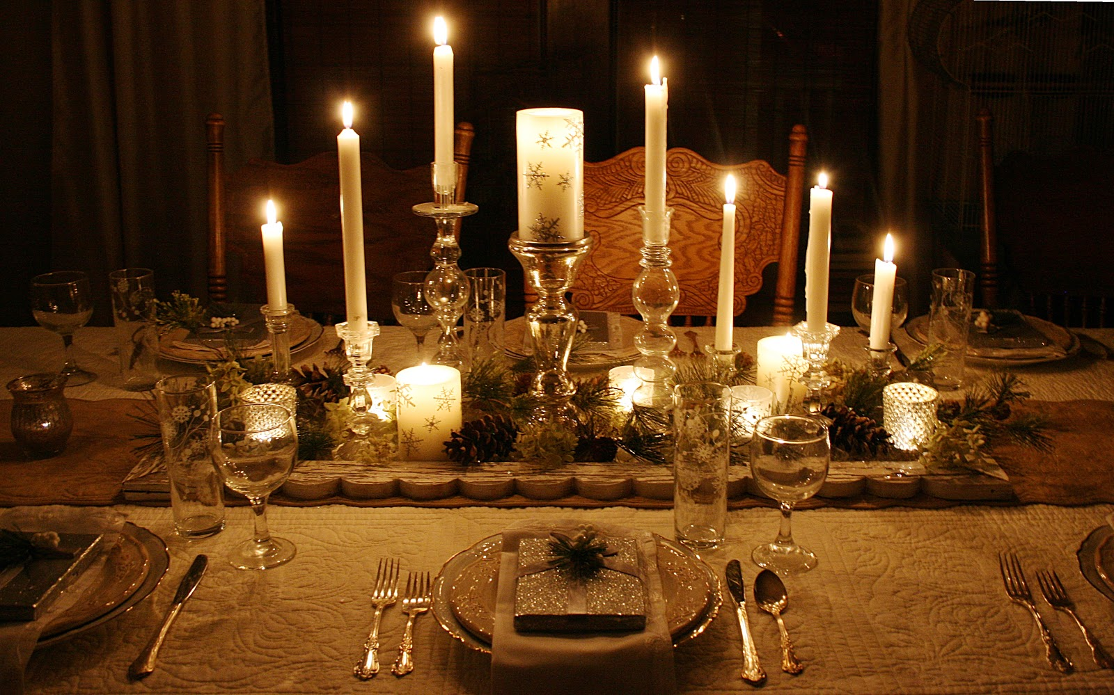 The Magic Of A White Christmas Tablescape