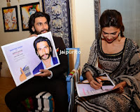 Ranveer and Deepika Padukone at Jaipur to Promote Ram-leela