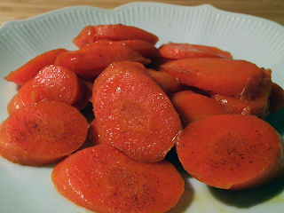Plate of Honeyed Carrots