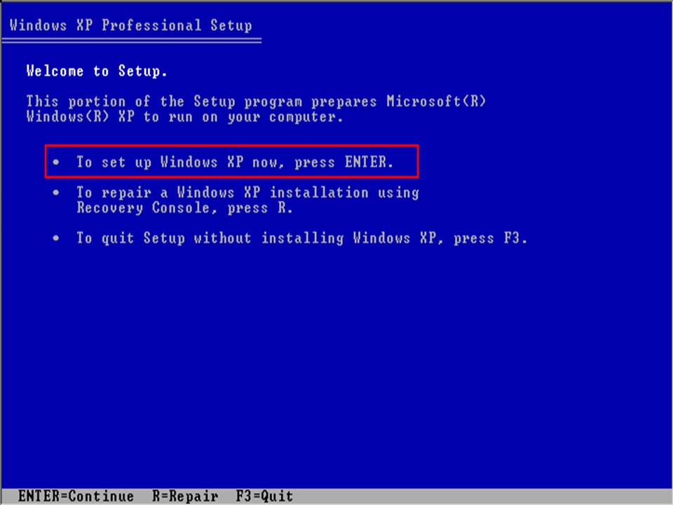 Windows XP Operating System