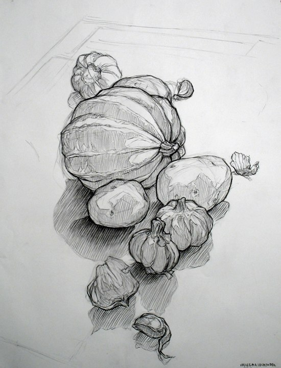 Contour Line Drawing Fruit : Basic drawing bananas pears