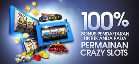 Bermain Crazy Slots M88 Bonus Sign Up 100%