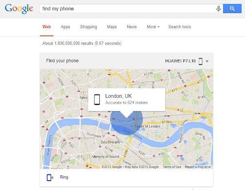 'Find My Phone' Cari Lokasi Telefon Hilang di Google