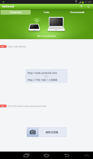 airdroid on android