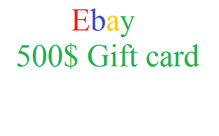Ebay 500$ Gift Card for Free - With Working - Ebay Gift cards Download