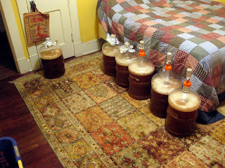 When Audrey isn't around I use her room for fermentation.