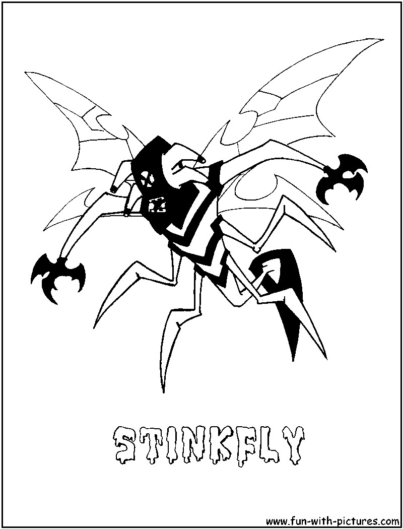 Ben 10 Stinkfly Coloring Pages