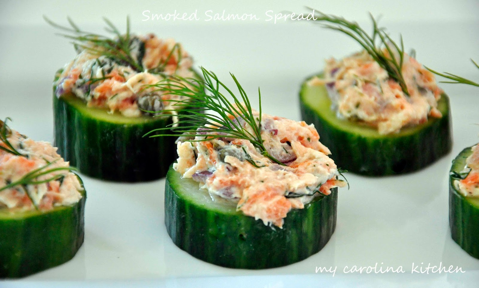 Dinner Party For 4 Menu Ideas Part - 50: Salmon Spread On Cucumber Rounds