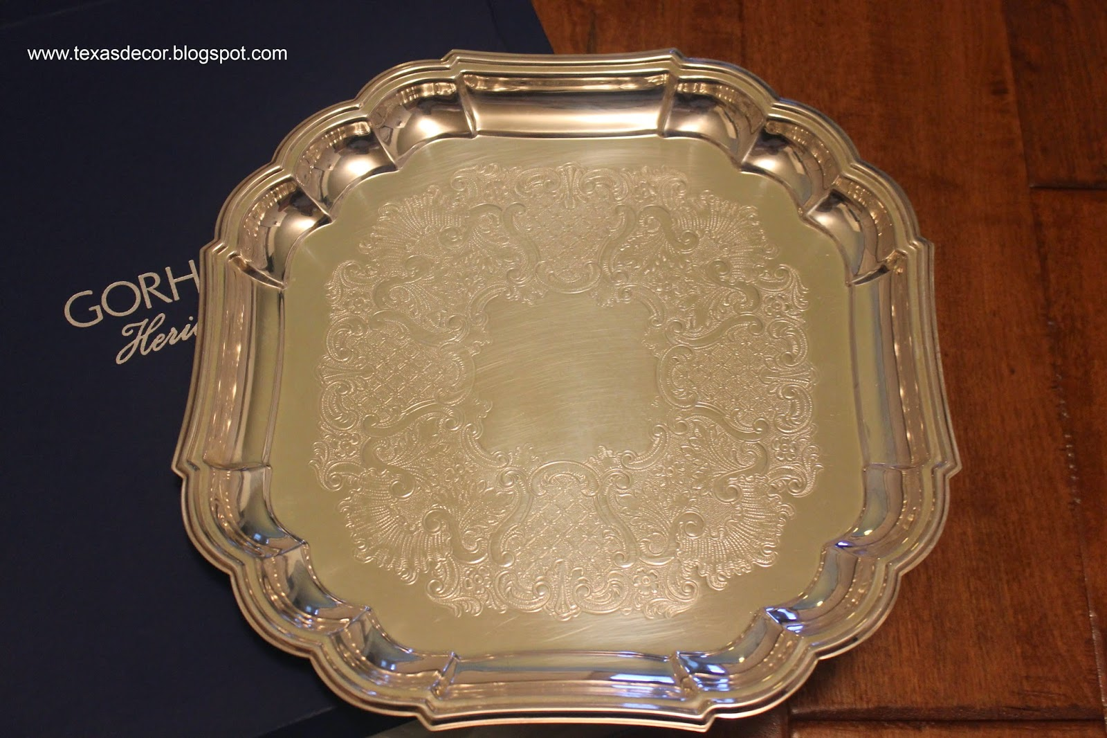 gorham silver platter circa 1990