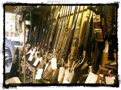 Rifles in gun shop