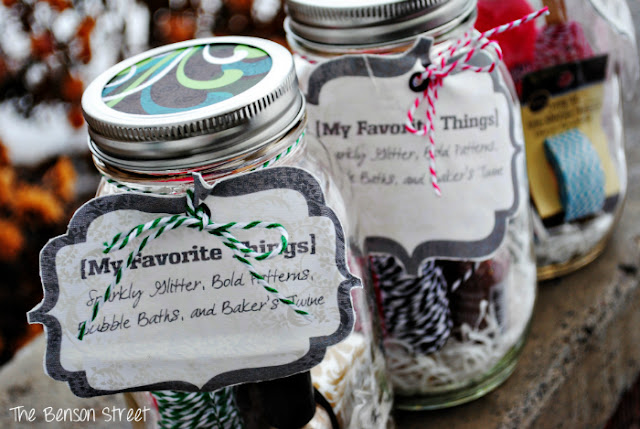 Favorite Things Mason Jar Gifts