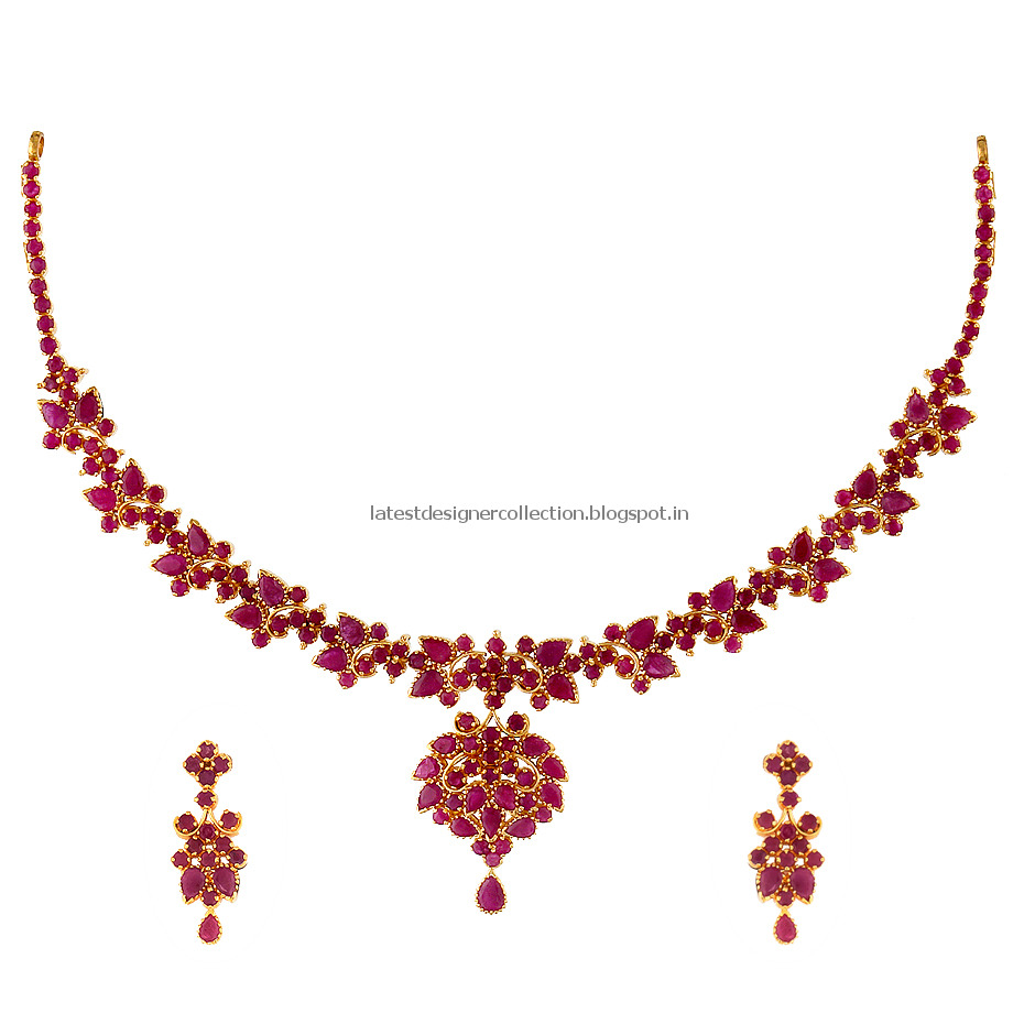 ruby necklace ruby jewellery indian clothing