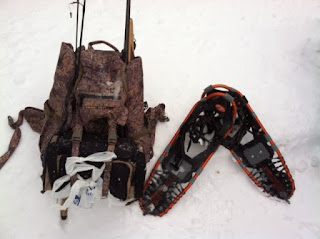 Eberlestock X2 Pack and snowshoes
