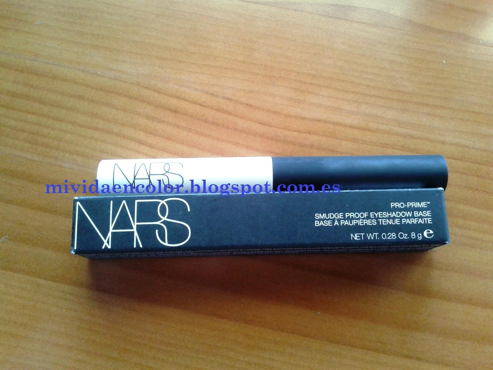 Pro-Primer Smudge proof eyeshadow base-pre-base-sombras-nars-reseña-review-opinión-blog-belleza-cosmética
