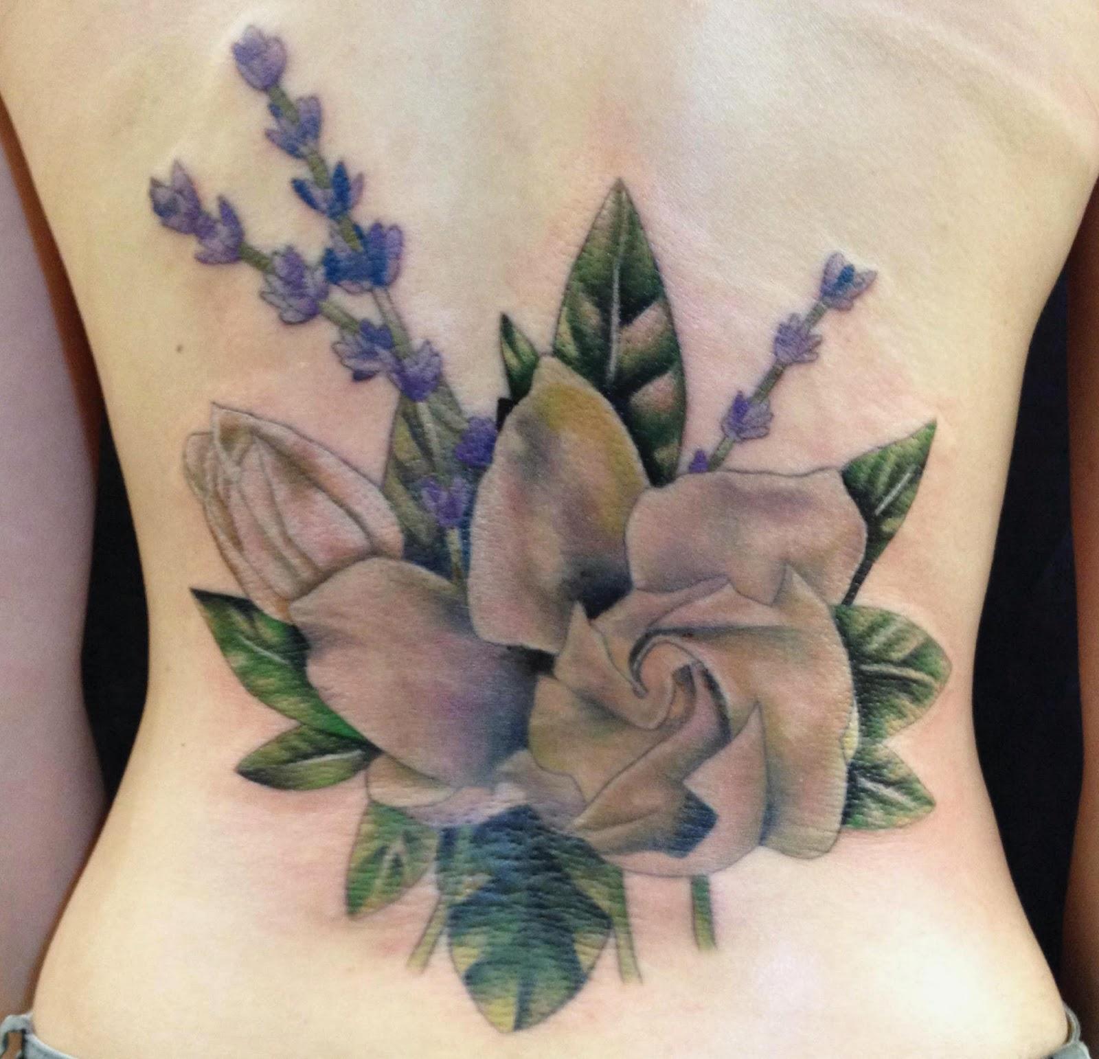 the gallery for lavender flower tattoo designs. Black Bedroom Furniture Sets. Home Design Ideas