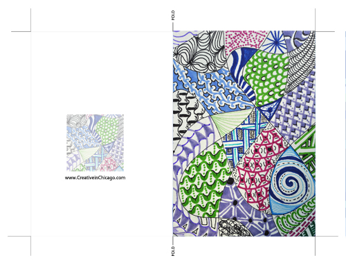 A few weeks ago I shared on Facebook a zen tangle doodle I was working on. Now it is a greeting card and available as a FREE download