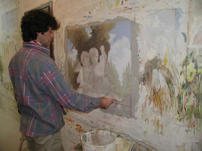 Fresco painting today and days gone by collar city for Egyptian fresco mural painting