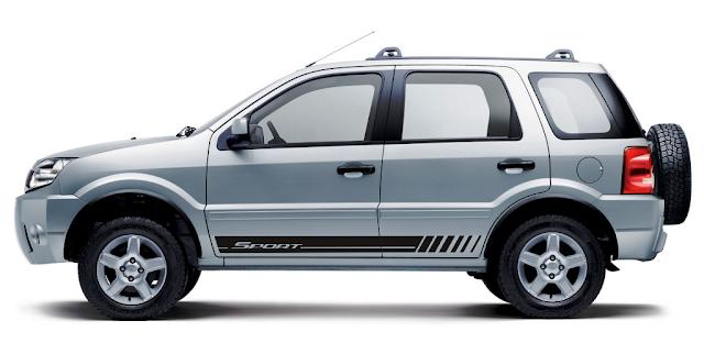 faixa lateral adesiva ecosport ford lançamento peças acessórios tuning 2015 2016