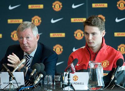 Sir Alex Ferguson and Nick Powell