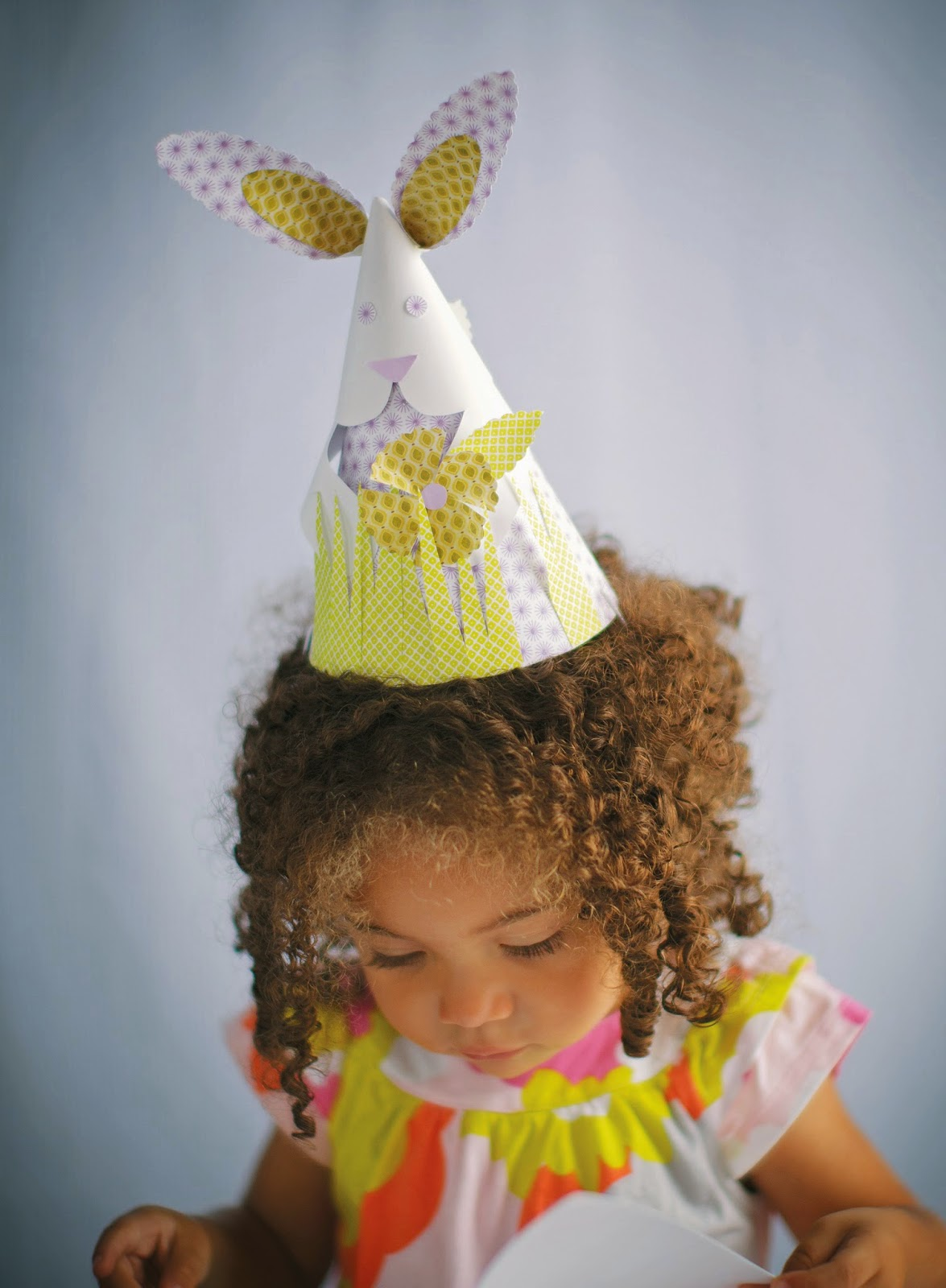 Bunny Party Hat Summer Birthday Party Hat