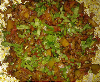 Parwar sabji withcoriander leaves