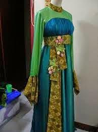 Baju pesta batik kombinasi sifon