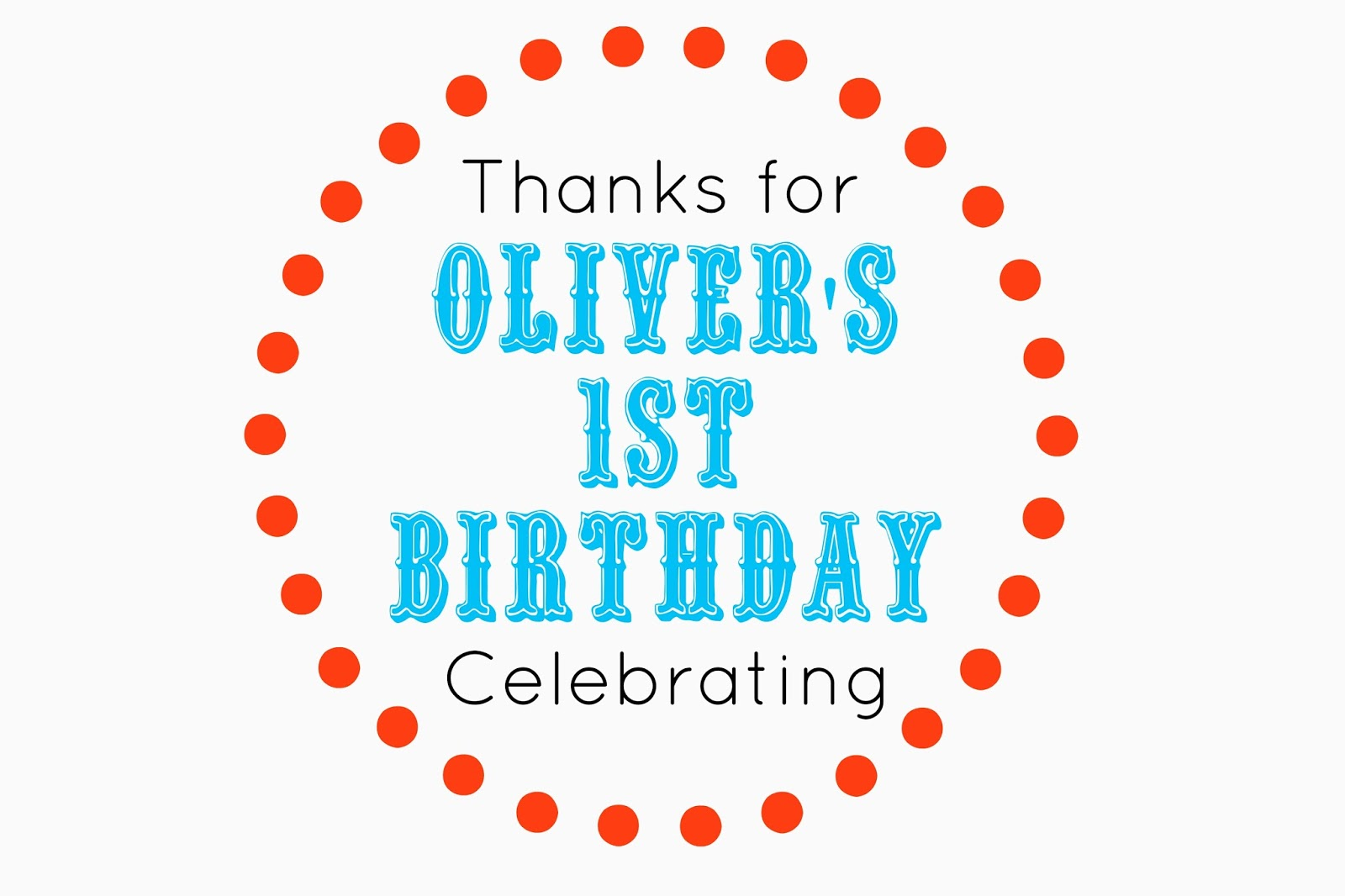 Oliver\'s First Birthday Invitation-Free Printable - Smashed Peas ...