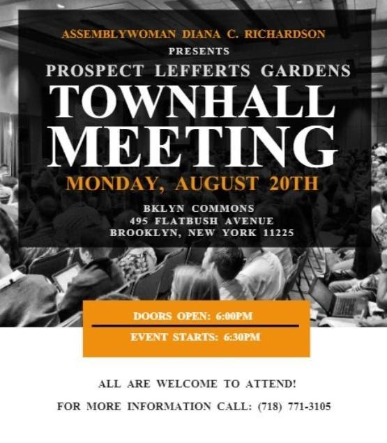 Lefferts Town Hall Aug 20!