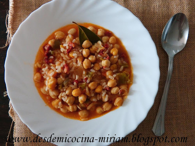 Garbanzos con arroz thermomix