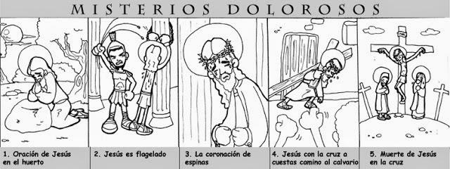 RELIALBA: MISTERIOS DEL SANTO ROSARIO PARA COLOREAR.