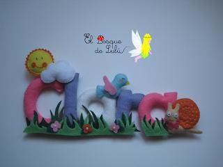 nombre-decoración-infantil-Clara-fieltro-name-banner-habitación-niña-regalo-personalizado-nacimiento