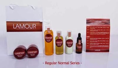 Toko Online Lamour Skin Care - Paket Lamour Reguler Face Sensitif, Dry & Normal Series - Jual Kosmetik Perawatan Kulit Wajah dan Tubuh