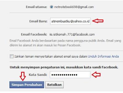 menambahkan email baru di facebook